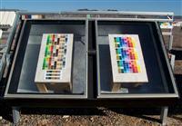 黑盒暴露在玻璃测试